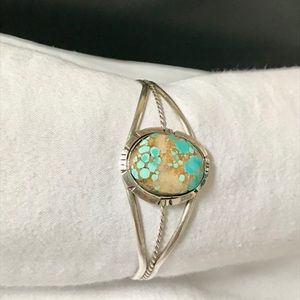 Sterling silver Navajo turquoise cuff bracelet